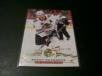 2018/19 Upper Deck Series 2 Brent Seabrook UD Exclusive Card /100