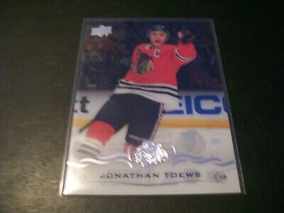 2018/19 Upper Deck Series 2 Jonathan Toews Clear Accetate Card