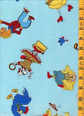 Northcott Old McDonald Farm Primary Yellow Check Child Baby Quilt Fabric 1A