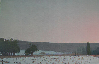 RUSSELL CHATHAM Winter Dawn At South Park Signed Lithograph