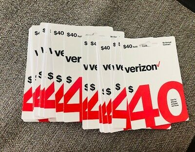 New $40 Verizon Prepaid Refill Card (Email Delivery Fast) Get It Now N Anytime.