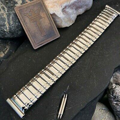 1960s Stainless Steel Admiral USA Made Expansion nos Vintage Watch Band