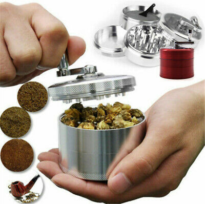 4 Layers Zinc Alloy Hand Crank Herb Mill Crusher Tobacco Smoke Grinder 55mm A30