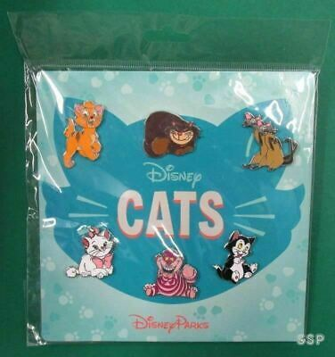 Disney Cats 6 Pin Booster Set - Figaro Cheshire Oliver Marie Si & AM Lucifer