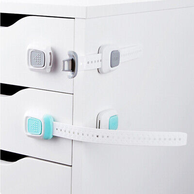 Dual Action Multi Use Latches Cabinet Locks Child Proof Safety Refrigerator Lock