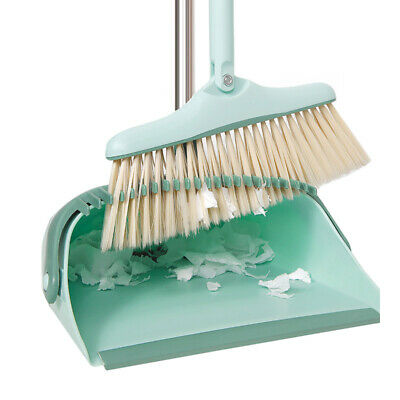 Broom and Dustpan Set Dust Pan Suit Cleaning Broom Combo with Long Handle Home