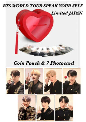 BTS Official 7 Photocard & Coin Pouch set SPEAK YOURSELF WORLD TOUR JAPAN Army