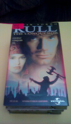 Kull The Conqueror RARE Glossy Cover 1997 VHS Kevin Sorbo sci-fi fantasy warrior