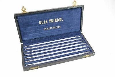 GLAS TRIEBEL MANNHEIM altes Thermometer Set in Box; K51