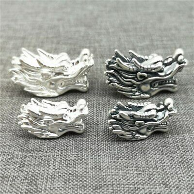 999 Fine Sterling Silver Dragon Beads 3D Bracelet Spacer The Weight is Light