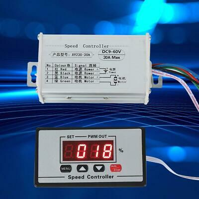 DC 9~60V 30A PWM DC Motor Speed Control Regulator W/ Digital Display Reversible