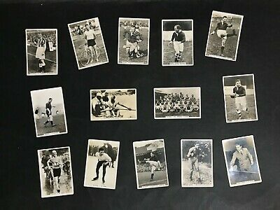 Cigarette Card Lot Of 14 Sporting Events & Stars 1935 Ardath Issues