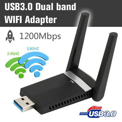 1200Mbps WiFi adaptador 2.4 GHz/5.8 GHz 3,0 inalámbrica dongle antena dongle