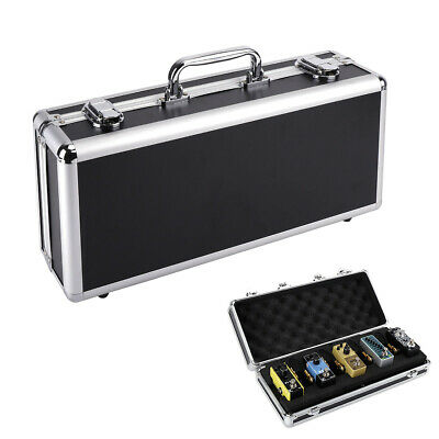 """Guitar Pedal Board Case 15"""" Flight Case with Pre-wiring Power Supply Cables"""