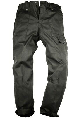 GENTS BLACK PARA TROUSERS MENS XS 30 R Military cargo bottoms cotton OG combats