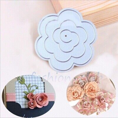 3D Flower Cutting Dies Metal Stencil DIY Scrapbooking Album Paper Card Craft Art