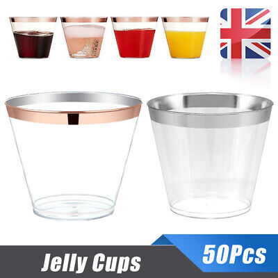Disposable Plastic Wine Glass Juice Champagne Cocktail Cup Party Wedding 50Pcs