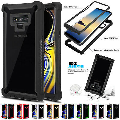 Hybrid Shockproof Heavy Duty Clear Case For Galaxy Note 9 8 S8 S9 S10 Plus S10e
