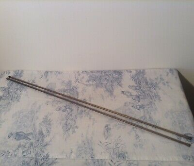 Pair of French Extendable Cafe Curtain Rods - 80cm - 134cm (3997)