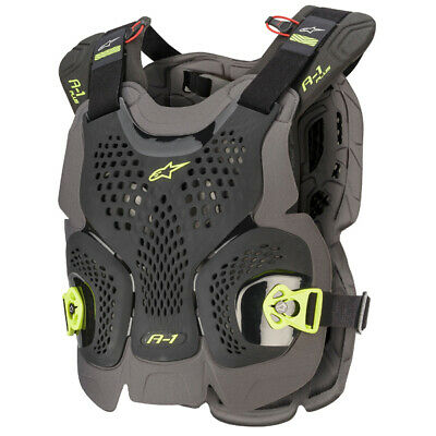 Alpinestars A1 Plus Black Anthracite Yellow Chest Protector