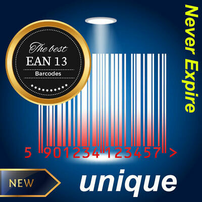 UPC EAN Numbers Bar-codes Bar Code Amazon UK EU Lifetime Guarantee 50-1000