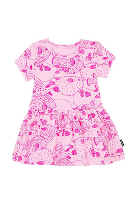 Bonds Baby Short Sleeve Stretchies Balletsuit size 00 1 Puffer Fish Gumball Pink