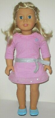"""American Girl Doll 18"""" Truly Me Blonde Hair Blue Eyes Outfit And Shoes"""