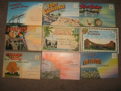Rare  Lot  of  (50) vintage  FLORIDA   POSTCARDS & (9) POSTCARD  FOLDERS