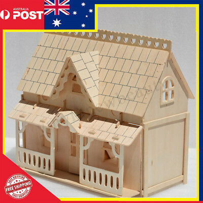 24th DIY Wooden Kids Dolls House Room Miniature Kit Toy Crafts Christmas Gifts