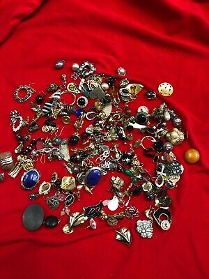 Job Lot Vintage Earrings Odd's some Pairs Pierce Clip On