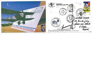 Timbre Cpa Avion Aviation Centenaire Aero-Club De France Hommage A Marius Fabre