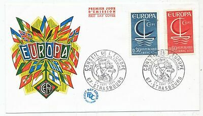 Timbre Stamp Zegel France Fdc Europa 1966