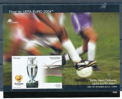 Timbre Stamp Zegel Portugal Football Soccer Fifa Euro 2004 Bl 204  Xx