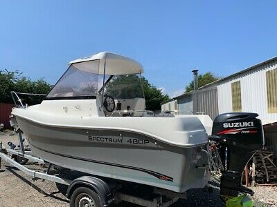 Spectrum 480 Pilothouse sports fishing weekender boat with Suzuki DF50 Outboard
