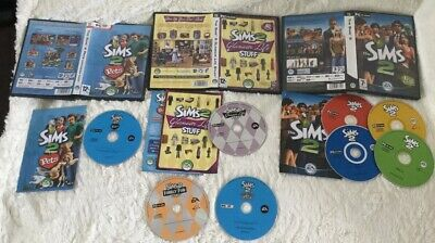 The Sims 2 PC Game Bundle Base Game + 2 Expansions + 2 Stuff Packs. Pc.