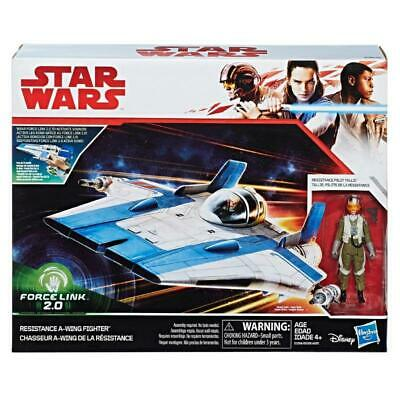 Star Wars Force Link 2.0 Resistance A-Wing Fighter Hasbro Figure Play Set