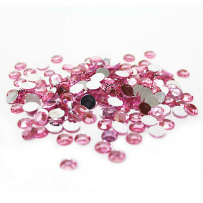 Pink Flat Back Faceted Round Rhinestones | Approx. 4200 Pieces