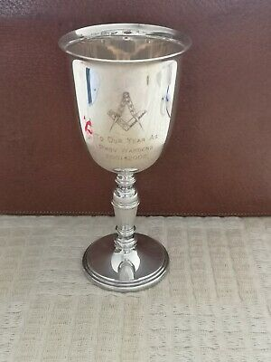 Masonic Goblet. Silver Plate.