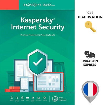 🔑 Licence KASPERSKY INTERNET SECURITY 2019 - 1 AN PC MAC - Clé d'activation Key