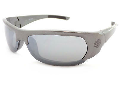 HARLEY DAVIDSON mens SILVER with BLUE wrap Sunglasses Gradient Lens HDX882 SI-35
