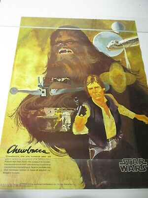 1977 Star Wars Poster Vintage Chewbacca Han Coca-Cola Burger Chef System 4 of 4