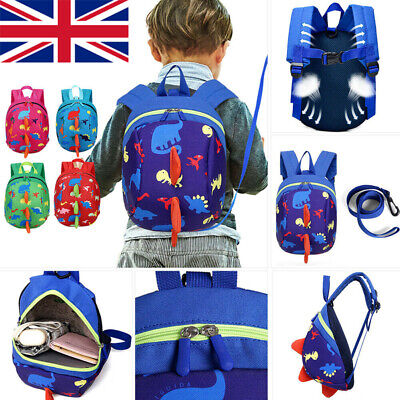Cartoon Baby Toddler Kids Dinosaur Safety Harness Strap Bag Backpack Anti Lost