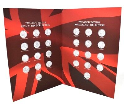 NEW 2018 Great British 10p A - Z Coin Collection Album Collectors Coins