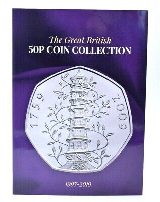 NEW 2019 50p Coin Collector Album Beatrix Potter Kew Gruffalo Hawking Snowma 2