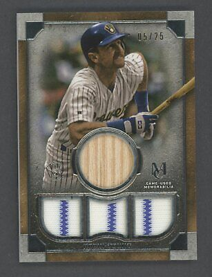 2019 Topps Museum Collection Robin Yount HOF Quad Bat Patch 5/25 Brewers