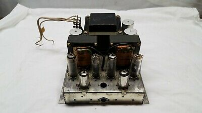 Tube-Type Amp from Telefunken Model Bayreuth 5552 MX  HI-FI Console UNTESTED