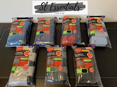 Hanes Men's 5 Pack Knit Boxers Tagless & ComfortSoft Size: Med - XL