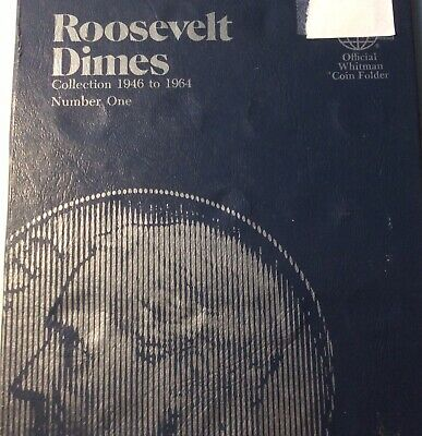 Complete Set of Roosevelt Dimes 1946-1964 in Whitman Folder