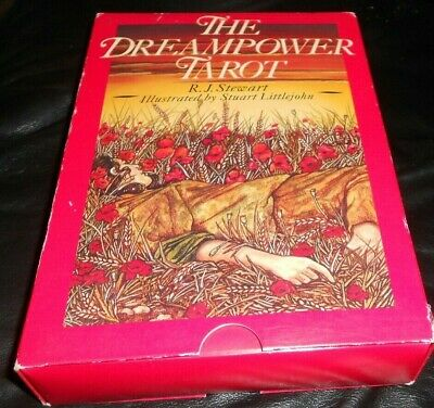Vintage --Original Dreampower Tarot Deck-- Full Set -80 Cards w/book- RJ Stewart