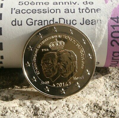 "Luxembourg Piece 2 Euro Commemorative 2014 ""Accession Au Trone Grand Duc Jean"""